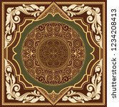 vintage ornate decorative card   Shutterstock .eps vector #1234208413