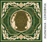 vintage ornate decorative card   Shutterstock .eps vector #1234208416