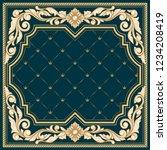 vintage ornate decorative frame   Shutterstock .eps vector #1234208419
