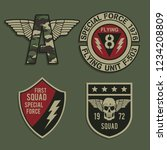 labels of military typography ... | Shutterstock .eps vector #1234208809