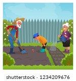 cute kid in the garden with... | Shutterstock .eps vector #1234209676