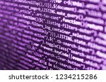 software engineer at work. data ... | Shutterstock . vector #1234215286