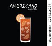 americano cocktail illustration ... | Shutterstock .eps vector #1234216279