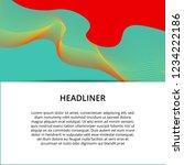 abstract modern banner... | Shutterstock . vector #1234222186