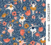 seamless pattern with hand... | Shutterstock .eps vector #1234222399