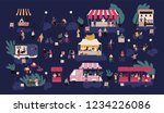 night market or nighttime... | Shutterstock .eps vector #1234226086