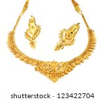 Wedding Gold Necklace With...