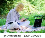 managing business outdoors.... | Shutterstock . vector #1234229296
