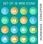 user interface web icons on...