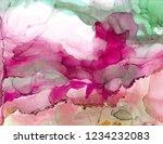 alcohol ink sea texture. fluid... | Shutterstock . vector #1234232083