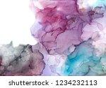 alcohol ink sea texture. fluid... | Shutterstock . vector #1234232113