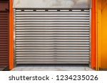 closed garage metal roll gate ... | Shutterstock . vector #1234235026