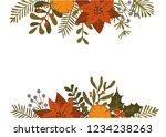 merry christmas winter foliage... | Shutterstock .eps vector #1234238263