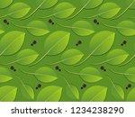 bay leaf vector seamless texture | Shutterstock .eps vector #1234238290
