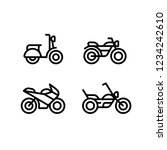 motorcycle types line icon set. ... | Shutterstock . vector #1234242610