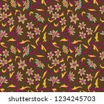 traditional paisley pattern | Shutterstock .eps vector #1234245703