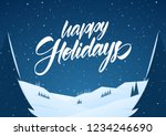 mountains winter snowy flat... | Shutterstock .eps vector #1234246690