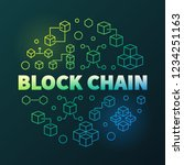block chain cryptocurrency...   Shutterstock .eps vector #1234251163
