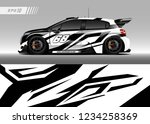 vehicle graphic livery design... | Shutterstock .eps vector #1234258369
