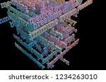 3d rendering. cgi typography...   Shutterstock . vector #1234263010
