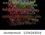 cgi typography with dark...   Shutterstock . vector #1234263016