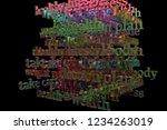 cgi typography with dark...   Shutterstock . vector #1234263019