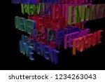 3d rendering. cgi typography...   Shutterstock . vector #1234263043