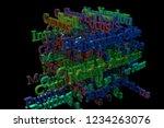 3d rendering. background...   Shutterstock . vector #1234263076