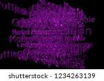 3d rendering. cgi typography...   Shutterstock . vector #1234263139