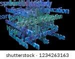 cgi typography with dark...   Shutterstock . vector #1234263163