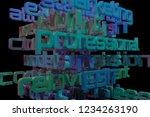 3d rendering. cgi typography...   Shutterstock . vector #1234263190
