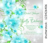 wedding card or invitation with ... | Shutterstock .eps vector #123426406