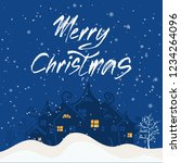 merry christmas and happy new... | Shutterstock .eps vector #1234264096