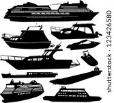 ships transportation... | Shutterstock .eps vector #123426580