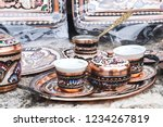 traditional handmade souvenir... | Shutterstock . vector #1234267819