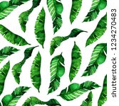 tropical leaves pattern in... | Shutterstock . vector #1234270483