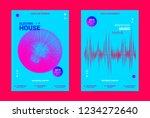 music event banner. techno... | Shutterstock .eps vector #1234272640