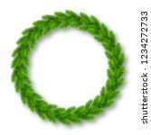 realistic christmas wreath from ... | Shutterstock . vector #1234272733