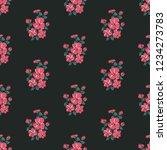 seamless vector ornamental... | Shutterstock .eps vector #1234273783