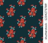 seamless vector ornamental... | Shutterstock .eps vector #1234273789