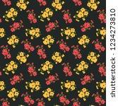 seamless vector ornamental... | Shutterstock .eps vector #1234273810