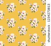 seamless vector ornamental... | Shutterstock .eps vector #1234273813