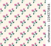 seamless vector ornamental... | Shutterstock .eps vector #1234273816