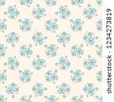 seamless vector ornamental... | Shutterstock .eps vector #1234273819