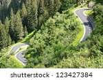 winding road at the european... | Shutterstock . vector #123427384