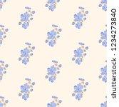 seamless vector ornamental... | Shutterstock .eps vector #1234273840