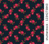 seamless vector ornamental... | Shutterstock .eps vector #1234273843