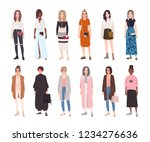 collection of young women... | Shutterstock .eps vector #1234276636