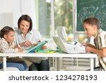 portrait of children at school...   Shutterstock . vector #1234278193