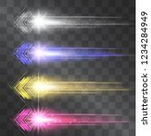 arrow laser glow vector... | Shutterstock .eps vector #1234284949